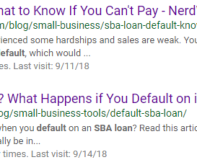 SBA Loan Default and the Google Algorithm