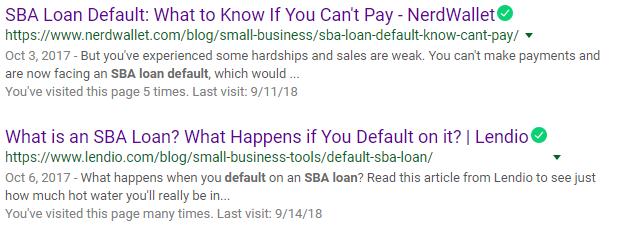 SBA Loan Default and the Google Algorithm