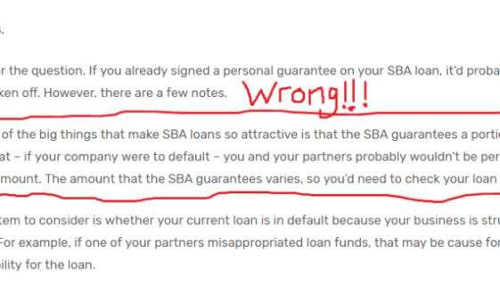 SBA Loan Default