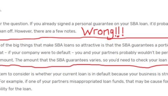 SBA Loan Default